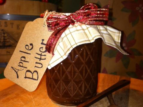 PHOTO: Apple butter in a Ball jar.