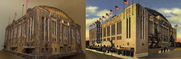 Chicago Stadium & botanical scale model.