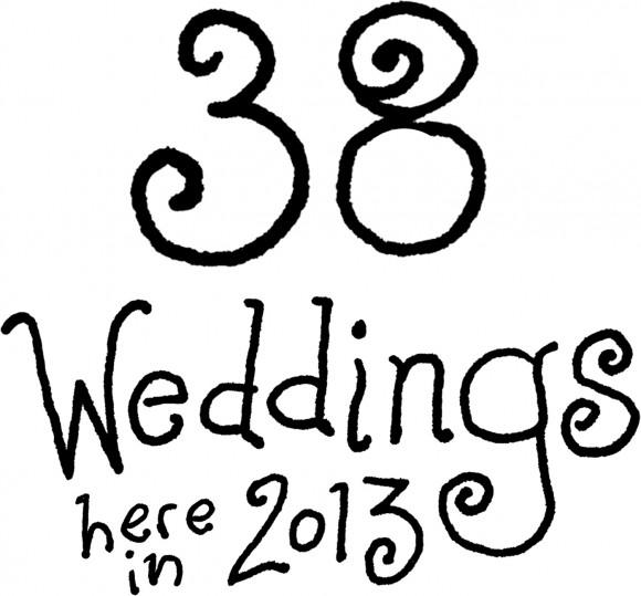 38 Weddings at the Garden in 2013!