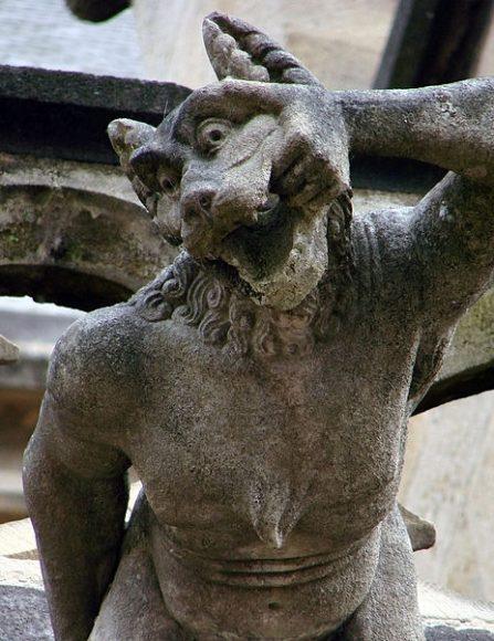 PHOTO: Werewolf gargoyle at the Cathédrale Notre-Dame de Moulins