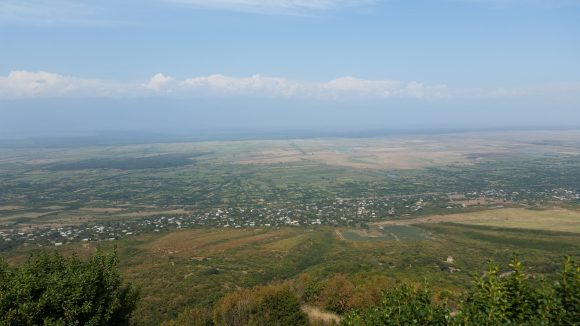 The central valley separating the Greater and Lesser Caucasus mountain ranges.