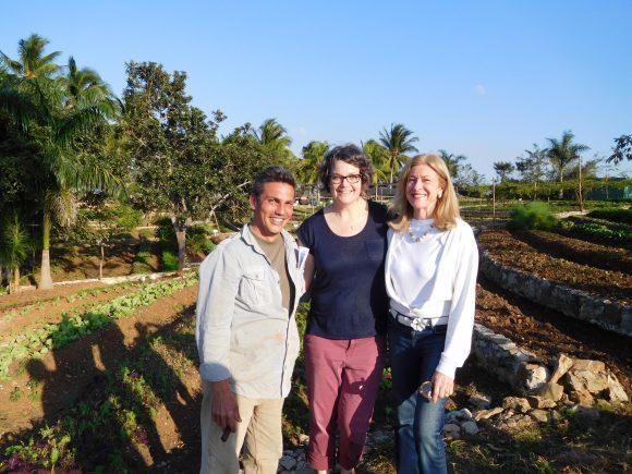 PHOTO: Angie Mason, Fernando Funes and Madeleine Plonsker in Cuba.