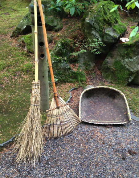 PHOTO: Bamboo rake, broom, and winnow.