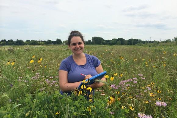 PHOTO: Becky Barak in the field.