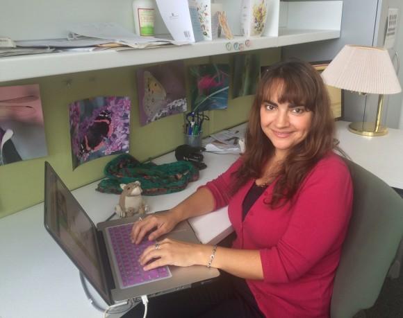 PHOTO: Bianca Rosenbaum at her desk.