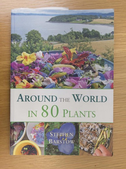 PHOTO: Book cover of Around the World in 80 Plants.