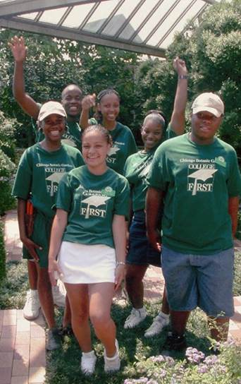 PHOTO: College First students of 2003.