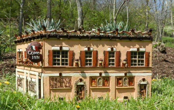 PHOTO: The Como Inn model, created with all natural plant materials.