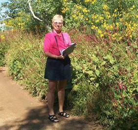 Dorothy Peck, volunteer team leader at work.