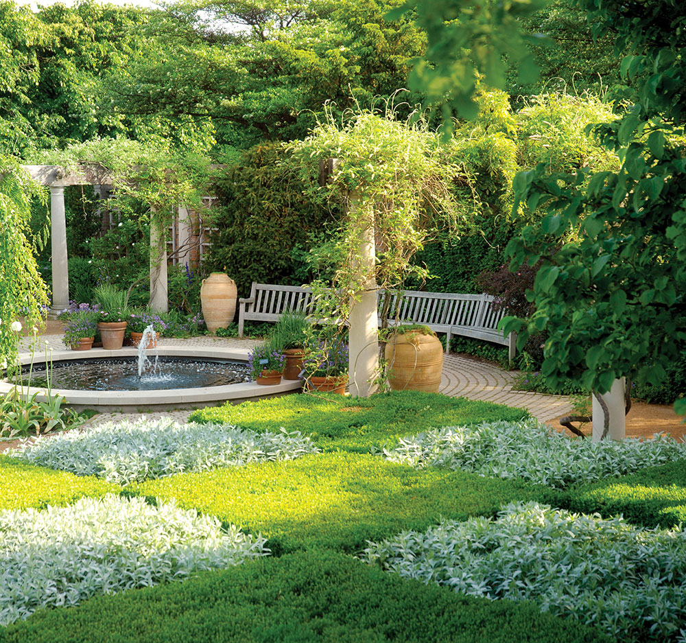 For the ages the english walled garden my chicago for Checkerboard garden designs