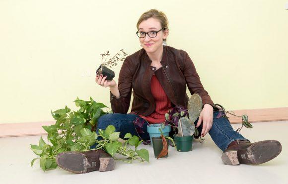 Erica Masini, blog author and plant parent