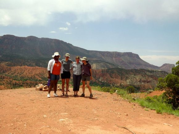 PHOTO: Alicia Foxx (left) participates in seed collection in Southeastern Utah.