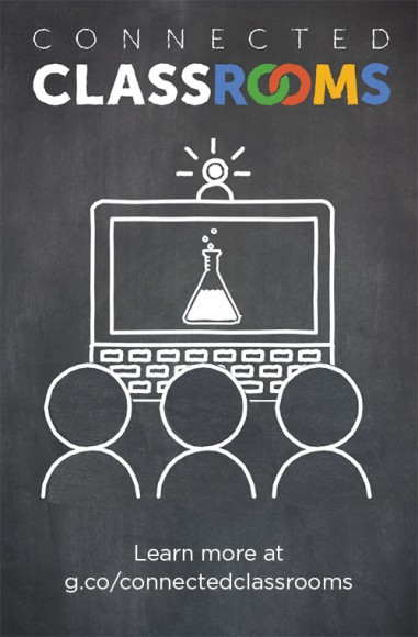 ILLUSTRATION: Google connected classrooms graphic.
