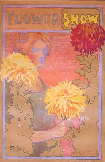 ILLUSTRATION: Flower show artwork from early Garden days.