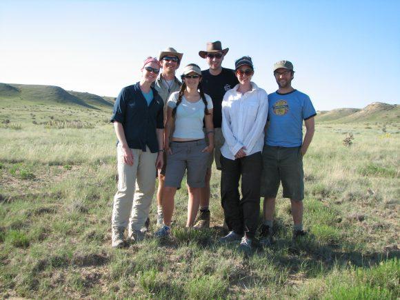 The field team in Colorado (left to right: Kelly Ksiazek, Matt Rhodes, Sadie Todd, Evan Hilpman, Krissa Skogen, and Jeremie Fant)
