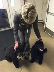 PHOTO: Lisa Hilgenberg with presidential dogs.