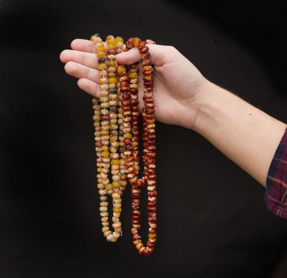 PHOTO: Indian corn necklaces.