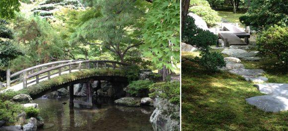 PHOTO: Earthen and wood bridges in Gonaitei Garden.