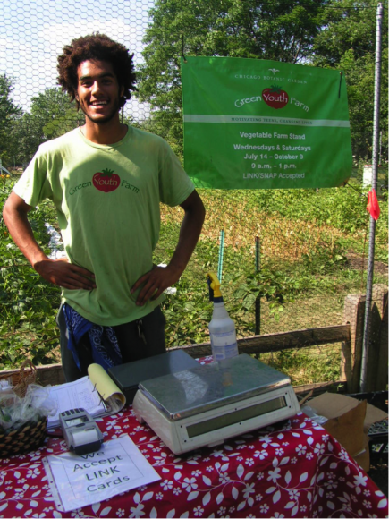 PHOTO: Green Youth Farm alum/intern Joe Young.
