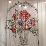 PHOTO: Printed botanical fabric on sale in the Kimball and Bean antiques booth.