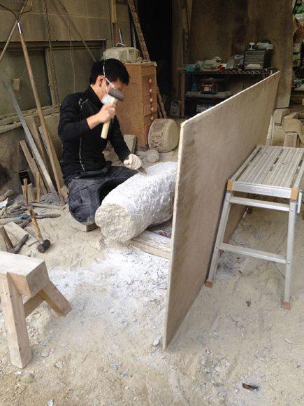 PHOTO: Kinzo Nishimura in his workshop.