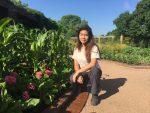 PHOTO: Intern and author Lisa Ho in the Regenstein Fruit & Vegetable Garden.