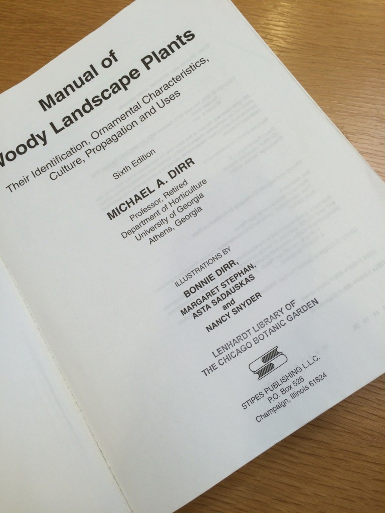 PHOTO: Manual of Woody Landscape Plants title page.