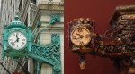 PHOTO: Marshall Field clock and miniature.