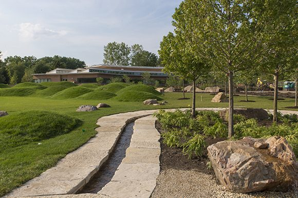 PHOTO: The Nature Play Garden amphitheater and runnel.