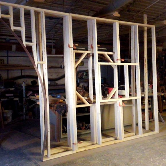 """Frame for the 2018 Orchid Show """"tea house"""" entryway"""