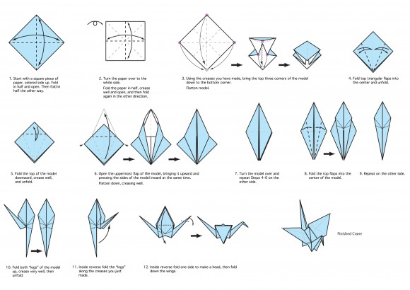 Download these instructions to create an origami crane.