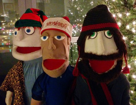 PHOTO: Threaded Films puppets—Ross Gerbasi on the right.
