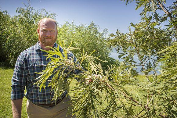 The Chicago Botanic Garden's new curator of woody plants, Phillip Douglas.