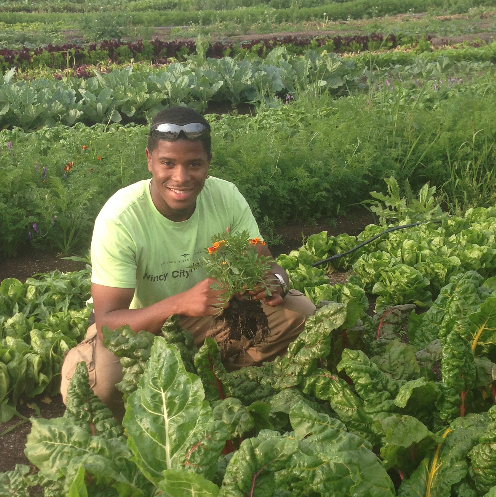PHOTO: Stacy Kimmons, a Windy City Harvest graduate, now owner of Return to Life Farming.
