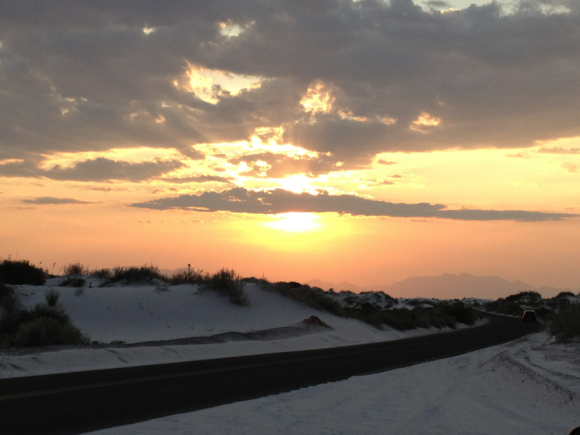 PHOTO: Sunset at White Sands National Monument.