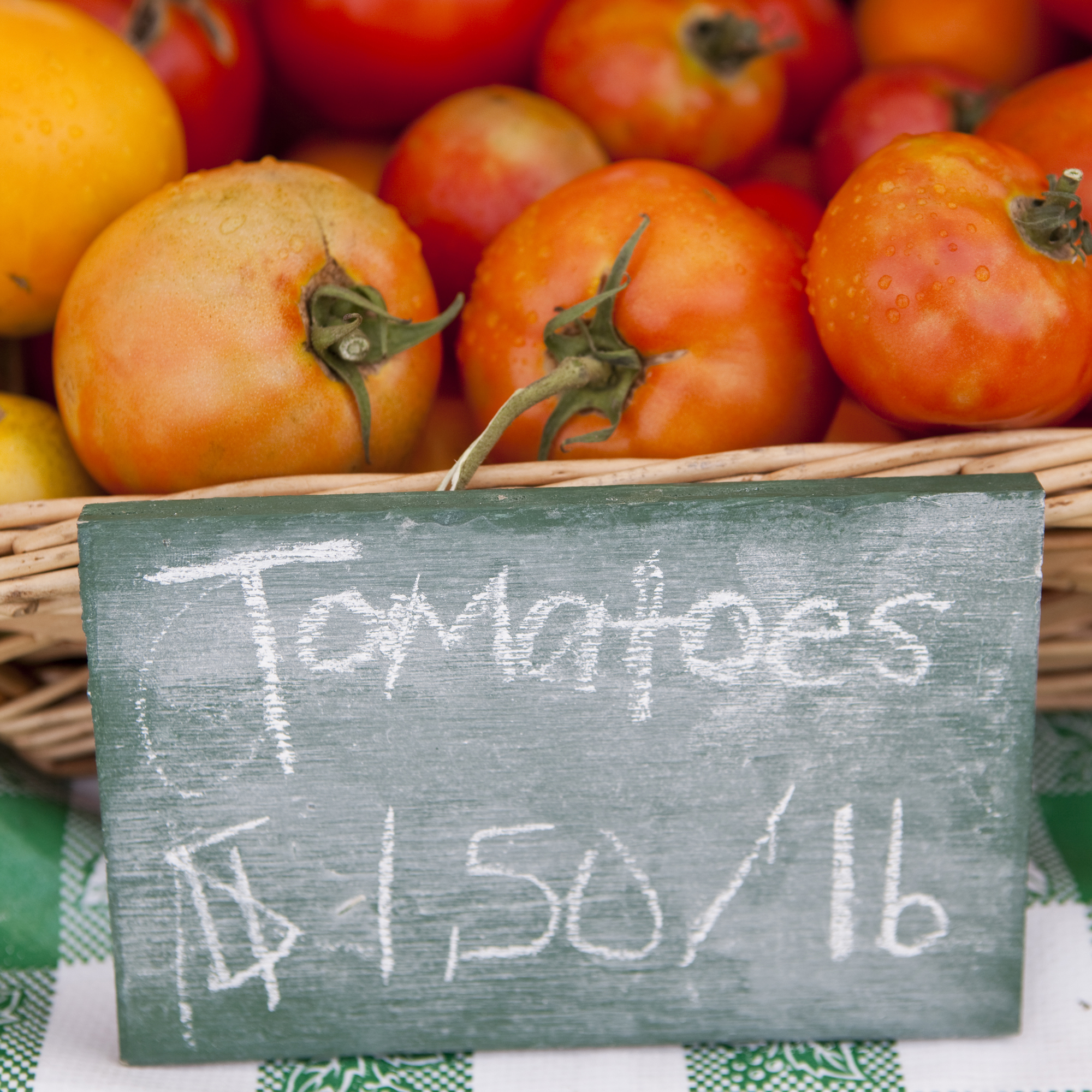 PHOTO: Tomatoes at market.