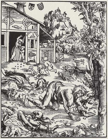 PHOTO: Werewolf illustration circa 1512 by Lucas Cranach the Elder