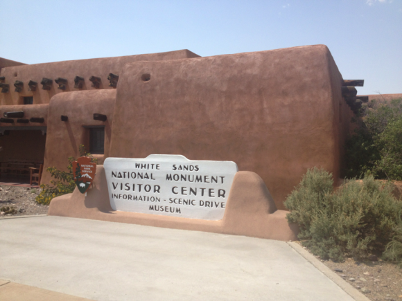 PHOTO: Visitor Center entry to White Sands National Monument