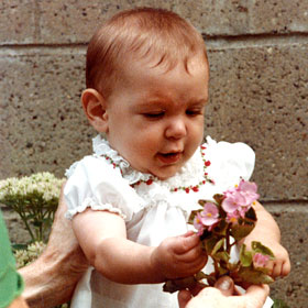 Julia as a toddler in Pittsburgh, Pensylvania