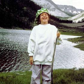 Kay on vacation in Maroon Bells, Colorado, age 7