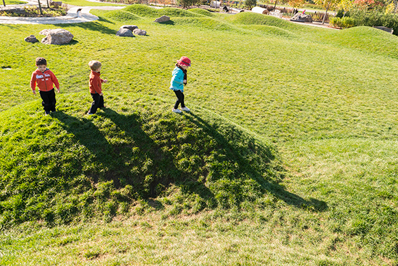 Outdoor play is a part of every Little Diggers class.