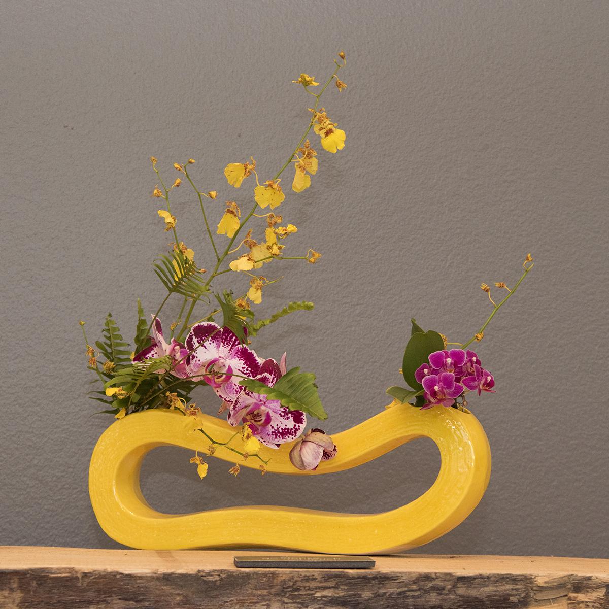 Orchid ikebana display