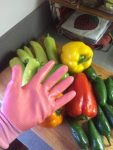 Use gloves when seeding hot peppers.