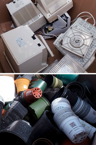 PHOTO: Items accepted for recycling at WED.