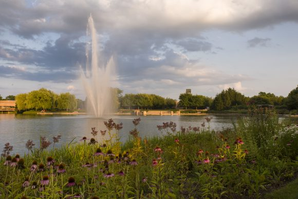 PHOTO: The Smith Fountain (which is illuminated at night) is an acclaimed feature in the North Lake.