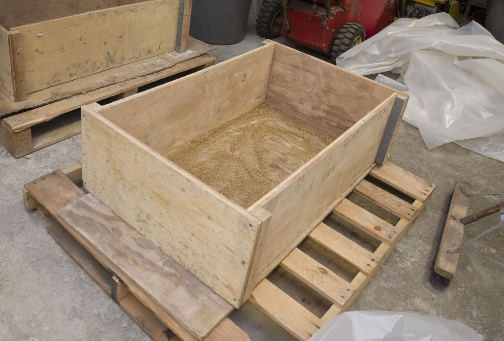 PHOTO: Framing the trough mold.