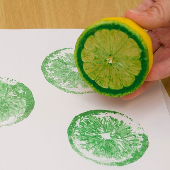 PHOTO: prints made from a lemon.