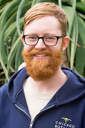 Wade Wheatley, assistant horticulturist, Greenhouses